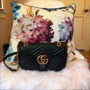 🌿 Gucci Mini Marmont Black Chain Shoulder Bag 🌿